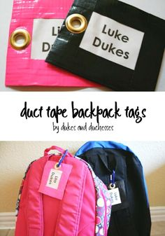 easy duct tape backp