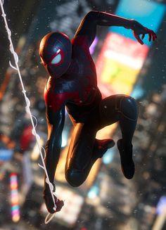 Miles Spiderman, Miles Morales Spiderman, Spiderman Art, Amazing Spiderman, Marvel Art, Marvel Comics, Siper Man, Spiderman Pictures, Symbiotes Marvel