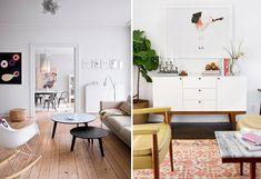 Białe ściany wnętrze mi-century - PIXERS blog