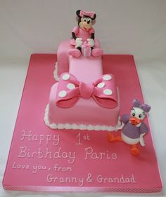 Minnie Mouse and Daisy Duck 1st birthday cake Www.facebook.com/cakeinspirations