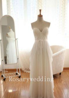 Einfache Sweetheart Stock Länge chiffon Brautkleid von rosary11, $239.00