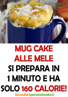 La torta in tazza alle mele che si prepara in 1 minuto. Easy Cake Recipes, Sweet Recipes, Snack Recipes, Cooking Recipes, Cake Light, Italy Food, Light In, Microwave Recipes, Weird Food
