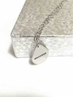 Success Inspirational Necklace Positive Jewelry by AbsoluteJewelry