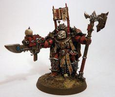 Chaos Space Marines, Dark Apostle, Terminator Armor, Word Bearers