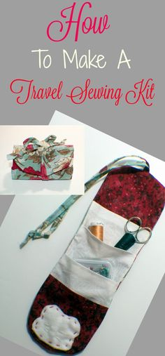 How to make a travel sewing kit. #travelsewingkit #sewingkit #sewign #sewingtutorial #tutoriel