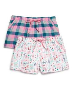 Jane & Bleecker New York Flannel Pajama Shorts, Set of 2 | Bloomingdale's