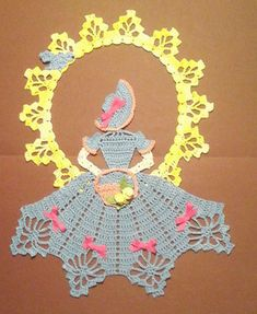 Lea - Spring is in the Air Crinoline Girl Doily