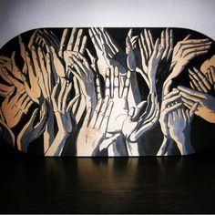 Hand drawn deck, Balanceboard