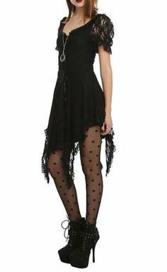 Spin Doctor Cruella Lace Dress Black Witch Corset Gothic Victorian Steampunk | eBay