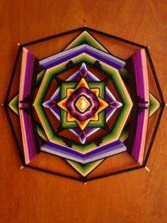 Mandala ojo de dios paso a paso ile ilgili görsel sonucu God's Eye Craft, Mandala Yarn, Mexican Crafts, Mandalas Painting, Gods Eye, Creative Workshop, Weaving Art, Crafts For Girls, Eye Art