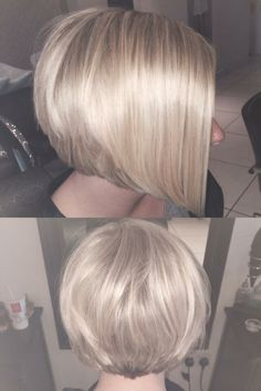Full Head Highlights, Short Graduated Inverted Bob by Our Colour Technician Elisha Lunaire. For Enquiries or to book Call Rhapsody Hairdressing- 01296 399736