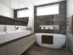 Interior Designers Sydney, Commercial Interior Design, Bathtub, Mirror, Space, Bathroom, House Ideas, Furniture, Home Decor