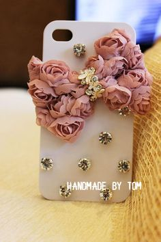Fashion bows lace iphone 5 case iphone 4 case iphone 4s case bling bling bows iphone cover. $21.00, via Etsy.