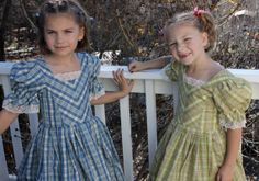 Made to order girls Civil War day dress by thecottageclothier, $120.00