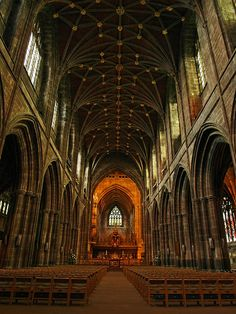 Chester Cathedral, Chester, Sing here every year Chester Cathedral, Cathedral Church, Cool Places To Visit, Places To Travel, Places To Go, Cathedral Architecture, Historical Architecture, Chester City, Chester Cheshire