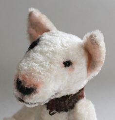 English Bull Terrier, OOAK Artist Dog Bear by Emma Hall, Elouise Bears