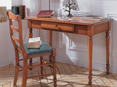 Minet secretaire met een lade, schrijftafel,bijzettafel,computertafel,ipad,laptop,kleur kersen,frans,bijpassende stoel, theo bot zwaag,110 cm. breed