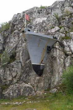 Russian Naval Ship Embedded in a Stone Mountain in Murmansk, Russia , page 1