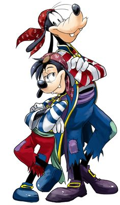 A Pirate's Life for Us | by なちゅのり @ Pixiv.net // #disney; goofy and max
