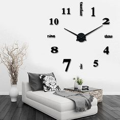 household-items: New Fashion Luxury DIY 3D Wall Clock Stickers Watches Home Decoration Art Large #Home - New Fashion Luxury DIY 3D Wall Clock Stickers Watches Home Decoration Art Large...