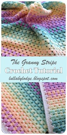 Learn a new stitch in this easy tutorial suitable for beginners. The granny stripe pattern makes amazing blankets and works up fast. Step by step guide with helpful photos. # crochet blanket patterns for beginners The Granny Stripe - Crochet Tutorial Granny Stripes, Granny Stripe Blanket, Striped Crochet Blanket, Crochet Baby Blanket Free Pattern, Crochet For Beginners Blanket, Granny Square Crochet Pattern, Simple Crochet Blanket, Double Crochet, Crochet Afghans