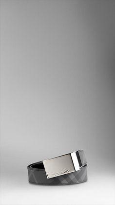 Burburry Brit Check Plaque Belt