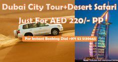 Discounted deal for Dubai City Tour and Desert Safari For more details: http://bookdubaidesertsafari.com/dubaitourdesertsafarideal.html