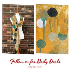Today Only! 25% OFF this item.  Follow us on Pinterest to be the first to see our exciting Daily Deals. Today's Product: Yellow dot art scarf, fashion wrap, painting inspired women's scarf, unique gift for her, teal and yellow art to wear, modal art scarf Buy now: https://www.etsy.com/listing/508821471?utm_source=Pinterest&utm_medium=Orangetwig_Marketing&utm_campaign=Daily%20Deal   #etsy #etsyseller #etsyshop #etsylove #etsyfinds #etsygifts #handmade #abstractart #handmadewithlove…
