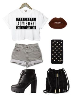 """""""Sem título #273"""" by amandacaniff ❤ liked on Polyvore featuring Charlotte Russe, Lime Crime, Vince Camuto and Diane Von Furstenberg"""