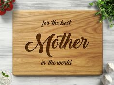 Cutting Board is a good ideas as Mothers day gift. We will make your personalized gift for mom beautiful and practical. This custom cutting board is the unique gift for her, Christmas gift, Mothers day gift, housewarming gift, foodie gift or Mom gifts from son or daughter. Cutting