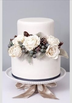 Gâteau de Mariage d'hiver.