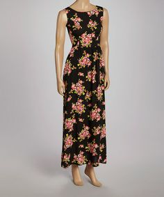 Loving this Black & Red Floral Maxi Dress on Red Floral Maxi Dress, Floral Dresses, Feminine Dress, What To Wear, Plus Size, Gowns, Elegant, My Style, Pretty