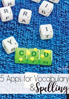 5 Apps for Spelling & Vocabulary that your older kids will love! Perfect for upper elementary, middle school and even high school kids! Your kids will love working on words with these fun games!
