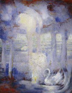 The Swan of Tuonela (Tuonelan joutsen), the 1895 tone poem by the Finnish composer Jean Sibelius (1865-1957). Illustration by Ira Jean Belmont.  Sibelius Museum, Turku, Finland