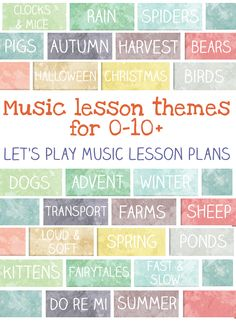 30 minute music lesson plan themes full of fun and packed with learning!