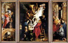 LA DESCENTE DE LA CROIX - 1612 #rubens #toile #peinture #painting #anvers #croix #art #flamand #maitre #master #baroque #1612 #tryptique