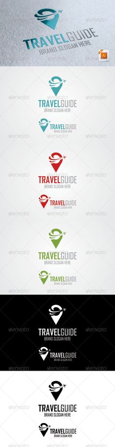 Travel Guide Logo - Symbols Logo Templates