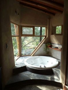 Bathtub with natural light