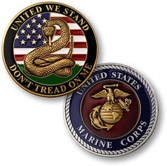 U s Marine Corps Don'T Tread on Me USMC Challenge Coin | eBay