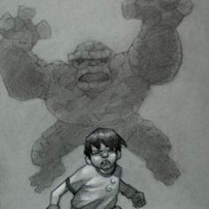 It's Clobberin Time! original pencil sketch from Craig Davison available now from Evergreen Art Cafe