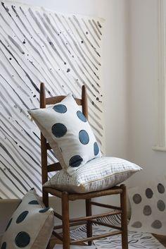 Polka dot printed pillows