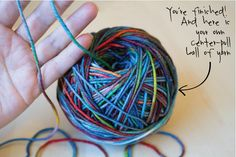 Make a yarn ball - ialwayspickthethimble.com