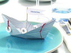 Maritime Tischdeko - Ideen in Blau-Weiß