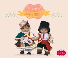 Muñecos Paolitos Canarios. #DiaDeCanarias #regional #munecos  #dolls Regional, Ronald Mcdonald, Fictional Characters, Canary Birds, Fiestas, Fantasy Characters