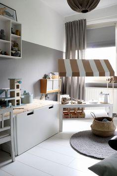 Ikea Raskog, Ikea Kids, Play Kitchen Diy, Tv Bank, Kids Market, Market Stalls, Childrens Beds, Bedroom Loft, Ikea Hack