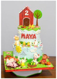 Farm animals for little girl :D  - Cake by Hopechan