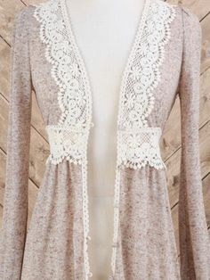 Lace waist - great addition for a cardigan especially for girls with an hourglass figure