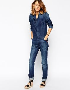 Enlarge BA&SH Madison Boiler Suit in Denim