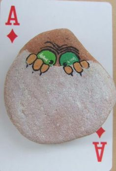 Painted Rock. Cute idea to keep kids busy while babysitting, or a fun project