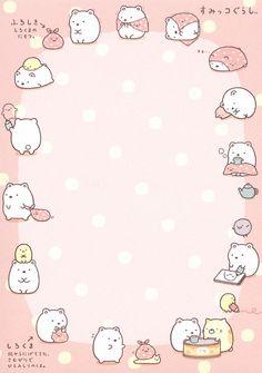 """San-X Sumikko Gurashi """"Leisure"""" Memo Stickers Kawaii, Cute Stickers, Hello Kitty Wallpaper, Kawaii Wallpaper, Kawaii Drawings, Cute Drawings, Note Doodles, Kawaii Doodles, Cute Notes"""